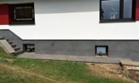 Haussockel mit Cemento Rasato Antracite 60 x 120 cm