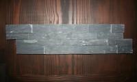 Schiefer-Verblender Anthrazit, Größe 15 x 60 x 3 cm, Stäbchenbreite 3,5 cm