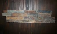Schiefer-Verblender Rostbraun, Größe 15 x 60 x 3 cm, Stäbchenbreite 3,5 cm