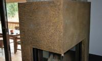 Stucco Calce mit Goldasur am Kamin